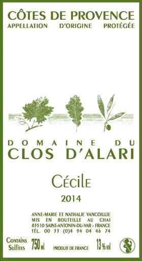 Domaine du Clos d'Alari - Cécile