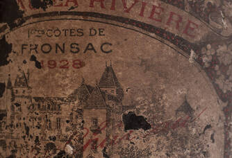 vieille étiquette du Château de la Rivière