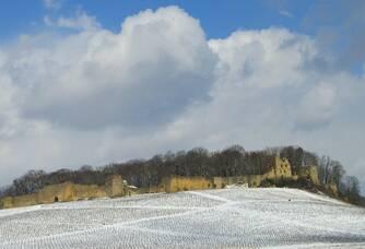 Château d'Arlay enneigé