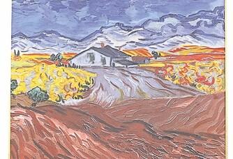 Peinture de Van Gogh du Mas de la Dame