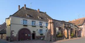 Le domaine, situé à 10 minutes de Colmar, sur la route des vins d'Alsace
