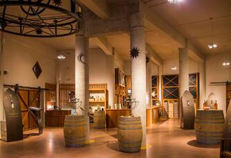 Le caveau de dégustation du Château Romanin