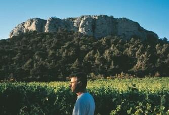 Christophe dans les vignes du Domaine Pech Redon