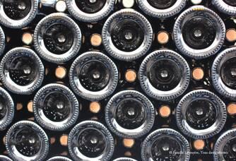 Le stockage des bouteilles du Domaine Labruyère