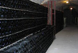 La cave du domaine du Champagne Trichet