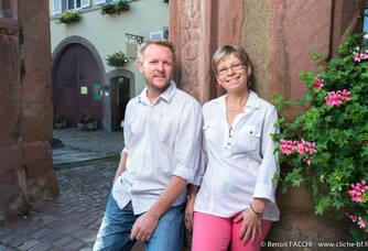 Nathalie et Christophe Freyburger, vigneron à Ammerschwihr en Alsace